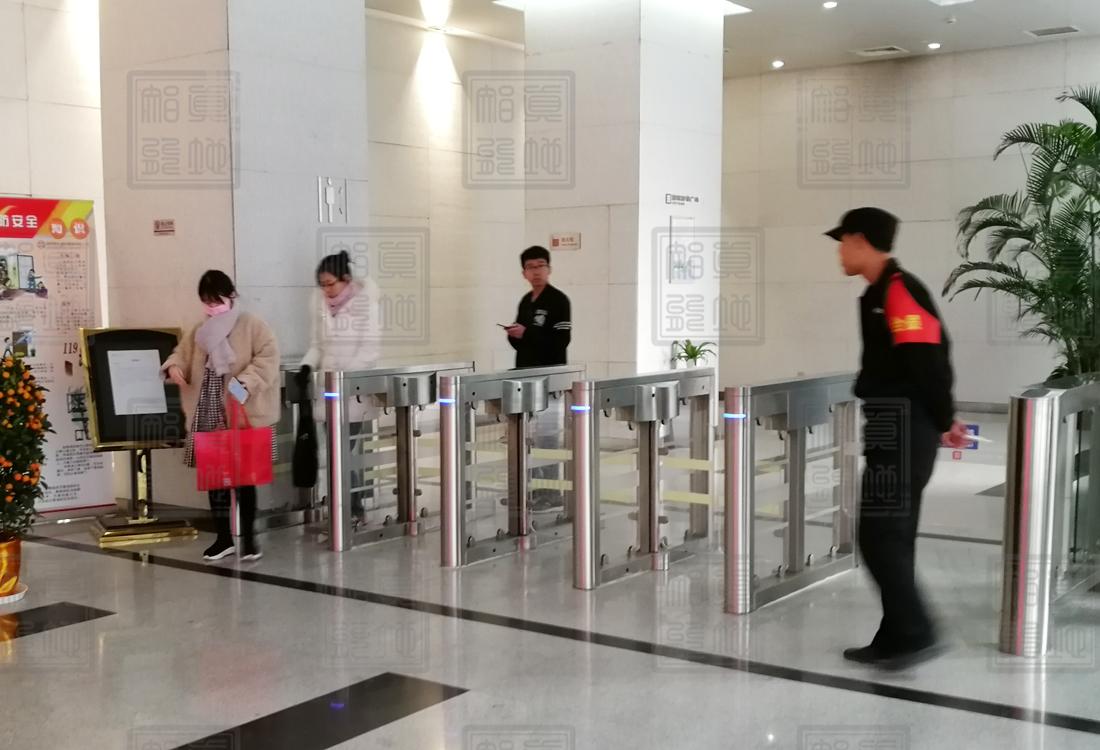 北京某写字楼5通道无刷摆闸案例